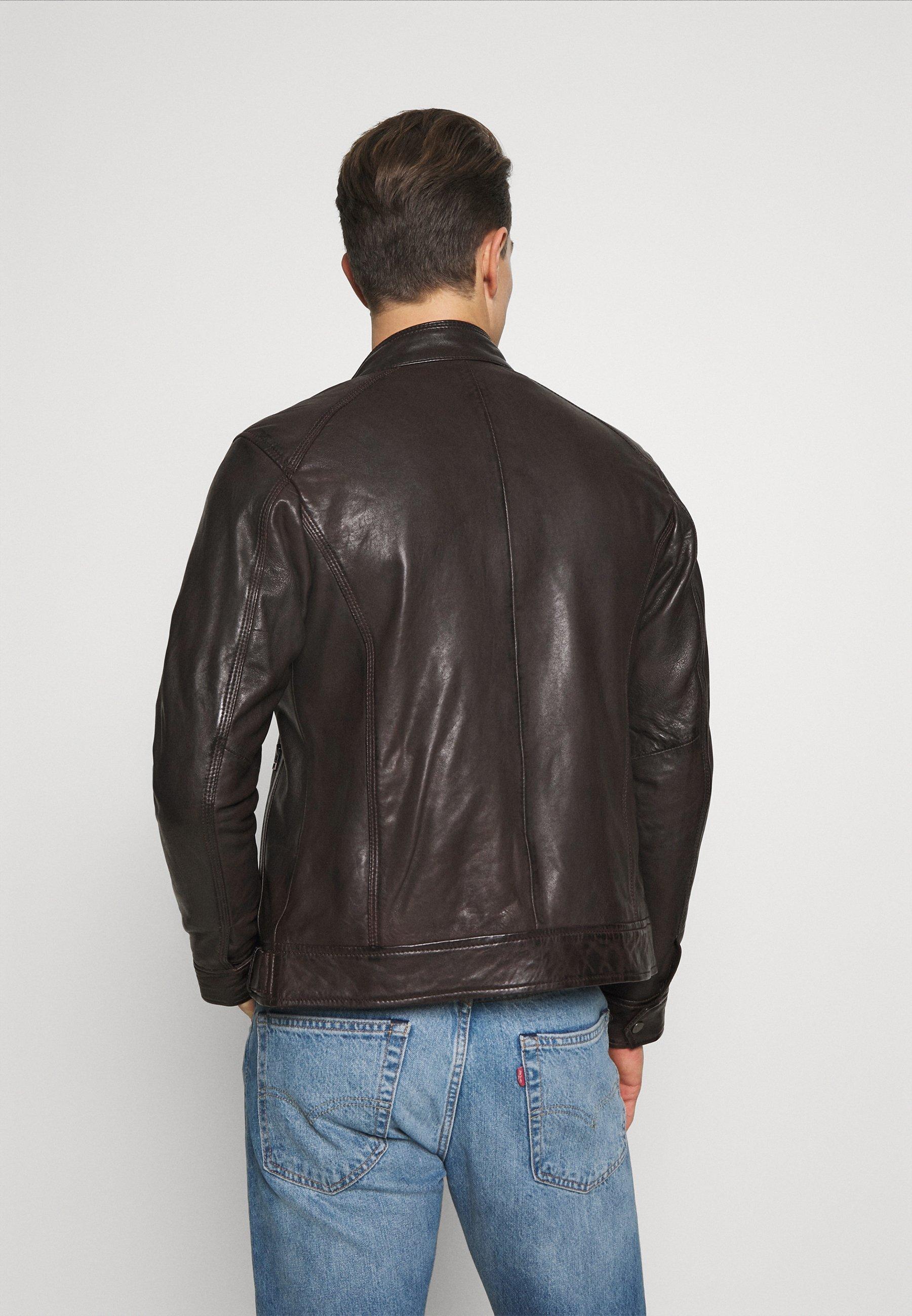 Men ERIC HOOD - Leather jacket