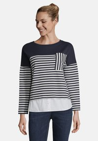 Betty & Co - MIT STREIFEN - Sweatshirt - blue/white - 0