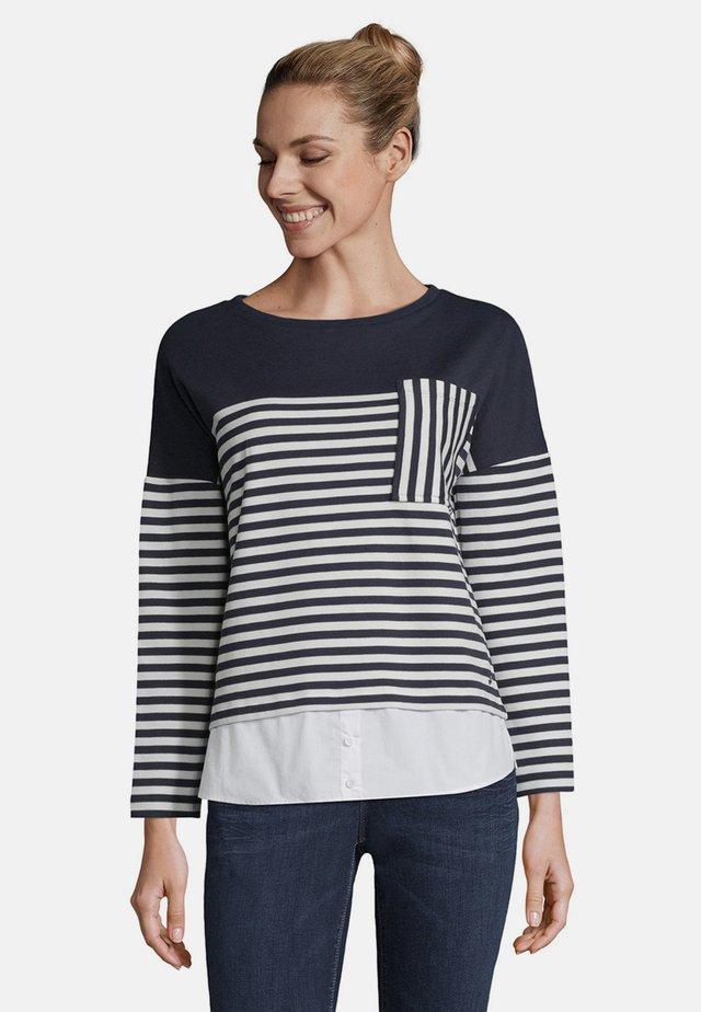MIT STREIFEN - Sweatshirt - blue/white