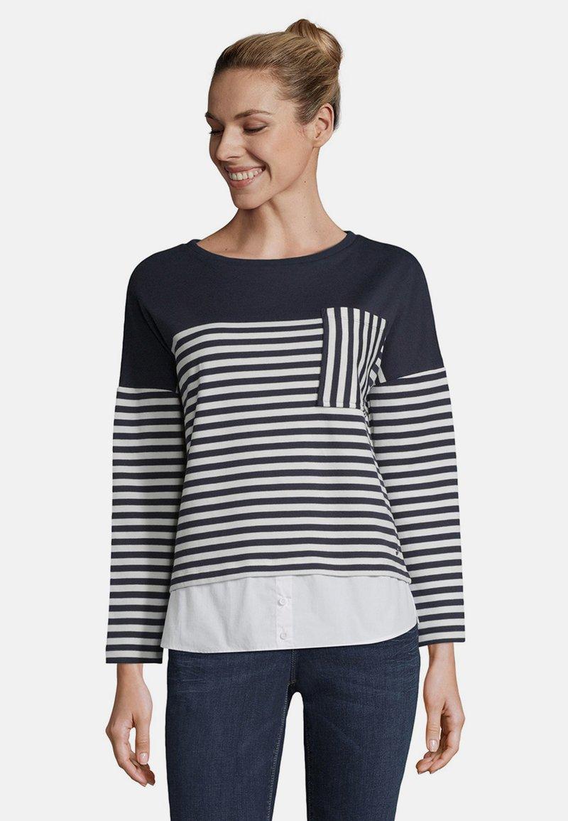 Betty & Co - MIT STREIFEN - Sweatshirt - blue/white