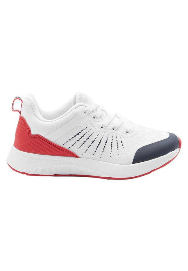 BLACK/FLURO ELASTIC LACE TRAINERS (OLDER) - Sneakers basse - white