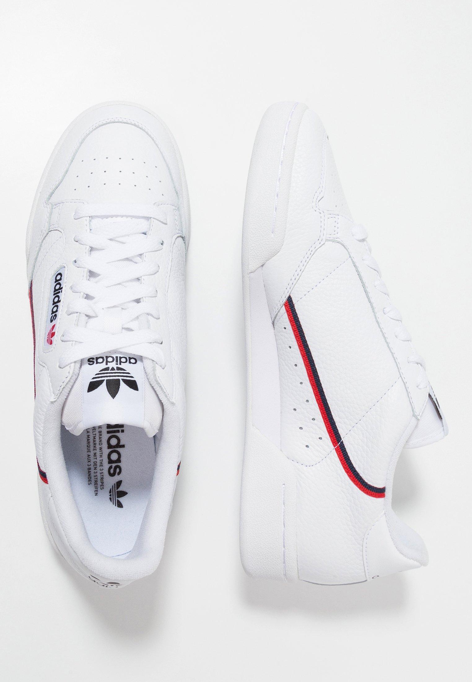 Adidas Originals Continental 80 Skateboard Shoes - Joggesko Footwear White/scarlet/collegiate Navy/hvit
