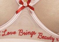 Playful Promises - FELICITY HAYWARD SELF LOVE EMBROIDERED LONGLINE BRA CURVE - Bøjle-bh'er - pink - 6