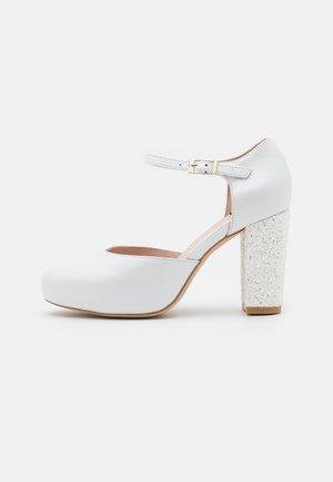 Platform heels - casiopea nacar bianco