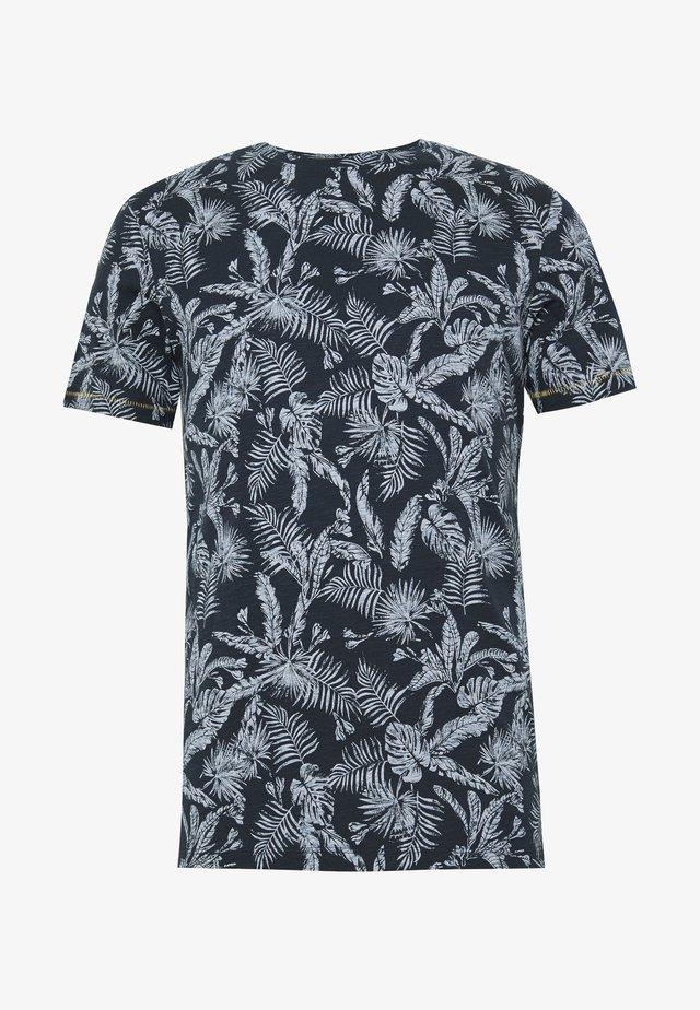 JORELRON ORGANIC - T-shirt z nadrukiem - navy