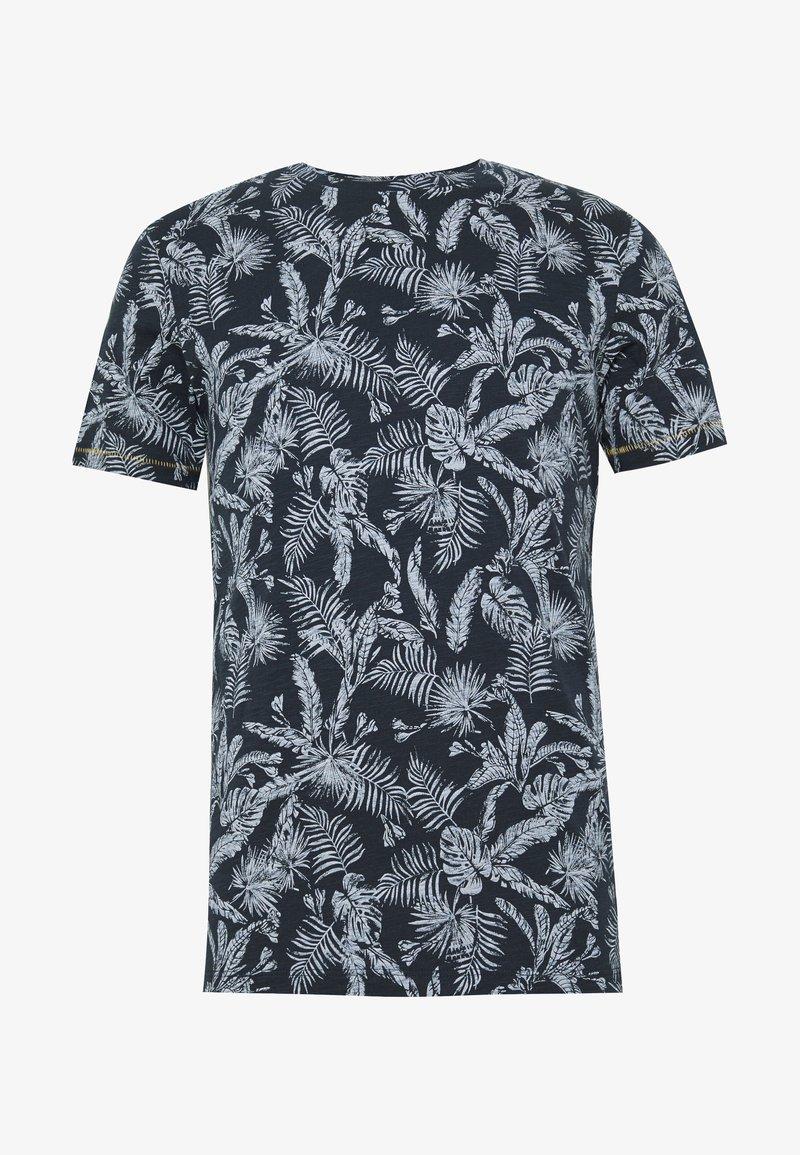 Jack & Jones - JORELRON ORGANIC - T-shirt con stampa - navy