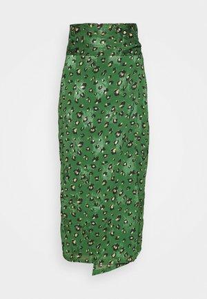 LEOPARD JASPRE SKIRT - Zavinovací sukně - green