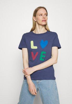 AUTH SLOG TEE - T-shirt con stampa - dark blue