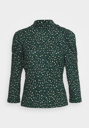 LEOPARD PUFF PRINT HIGH NECK - Blouse - green