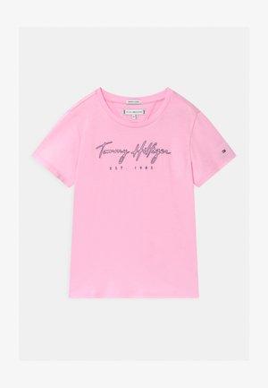LOGO - T-shirt print - pink