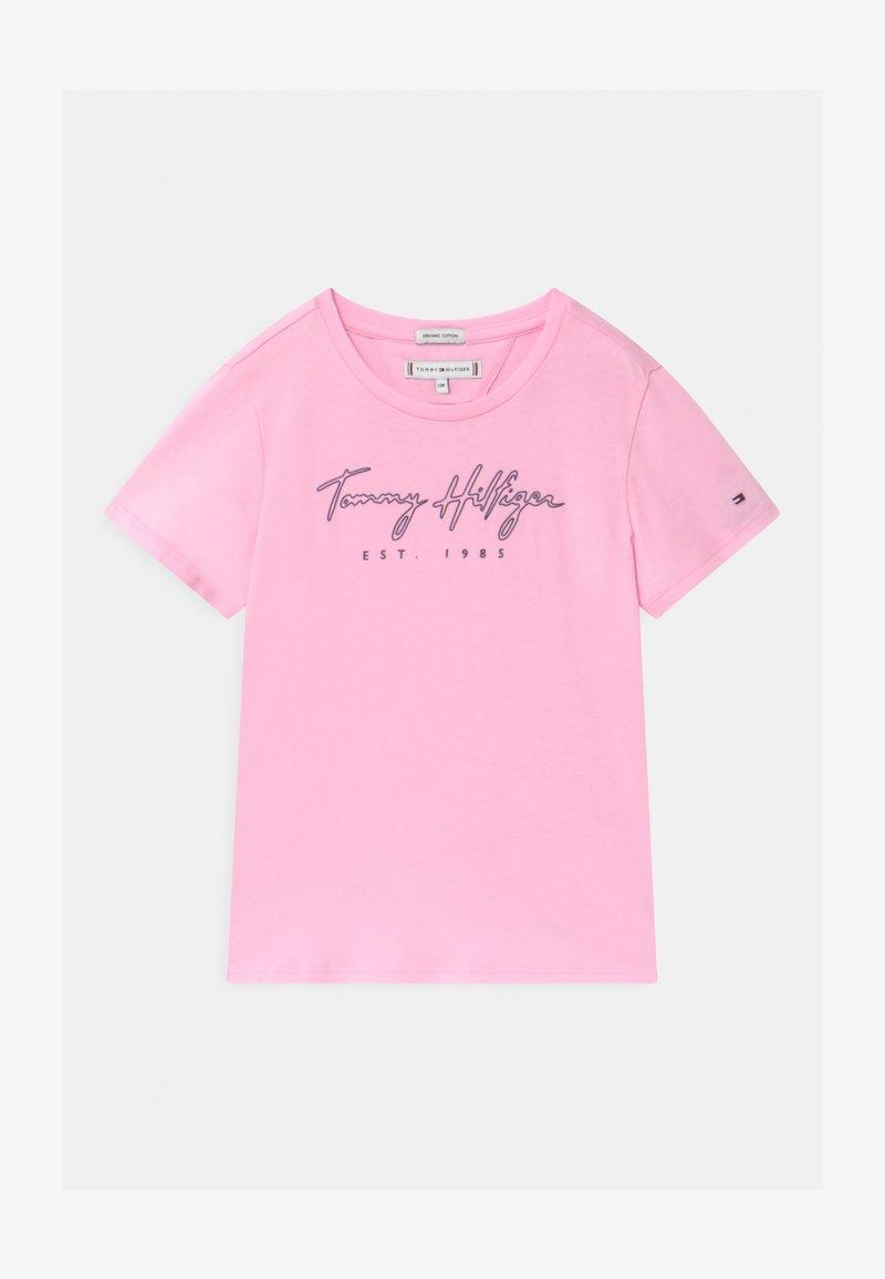 Tommy Hilfiger - LOGO - Triko spotiskem - pink