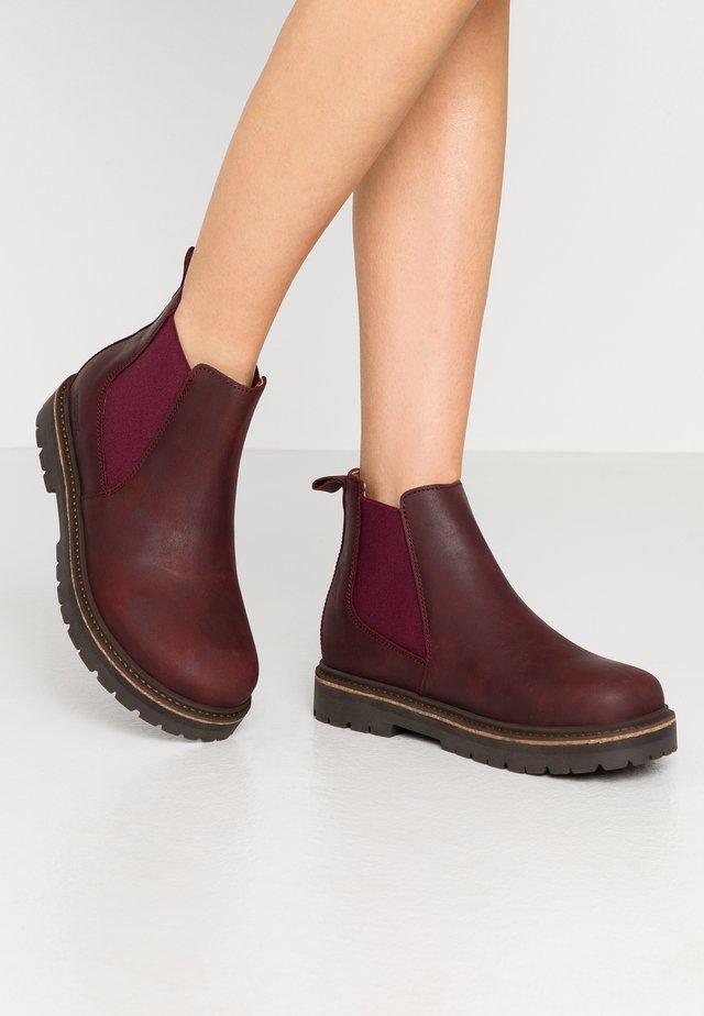 STALON - Platform ankle boots - burgundy