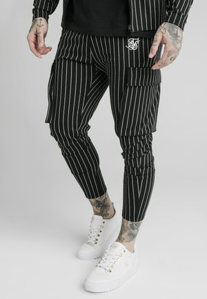 Pantalon cargo - black/white