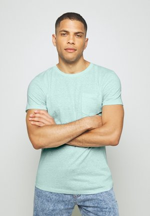 STRUCTURED  - Print T-shirt - small blue
