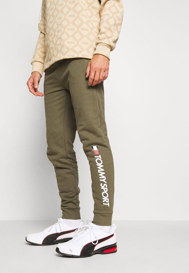 CUFF PANT LOGO - Pantalon de survêtement - khaki