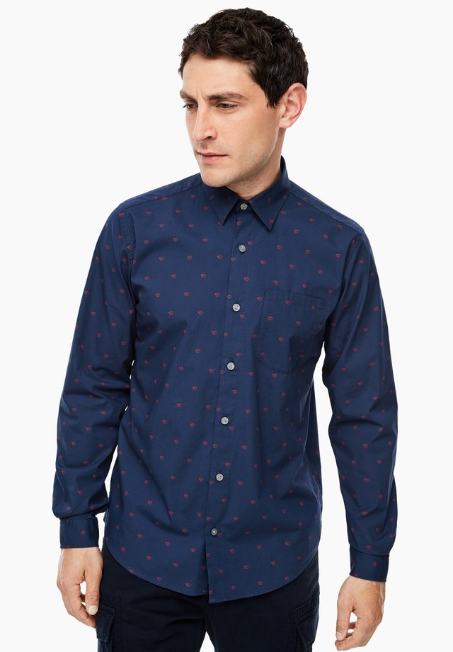 MIT ALLOVER-PRINT - Shirt - blue aop