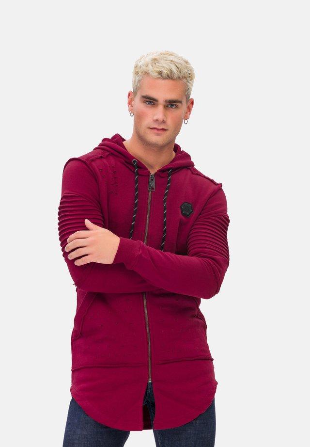 KAPUZENSWEATSHIRT MAN SWEATSHIRT - veste en sweat zippée - red