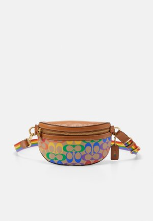 RAINBOW COATED SIGNATURE BETHANY BELT BAG - Ledvinka - tan penny/ multi