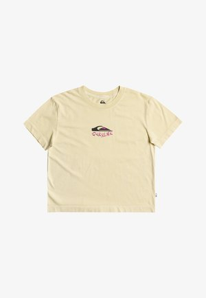 Print T-shirt - pastel yellow