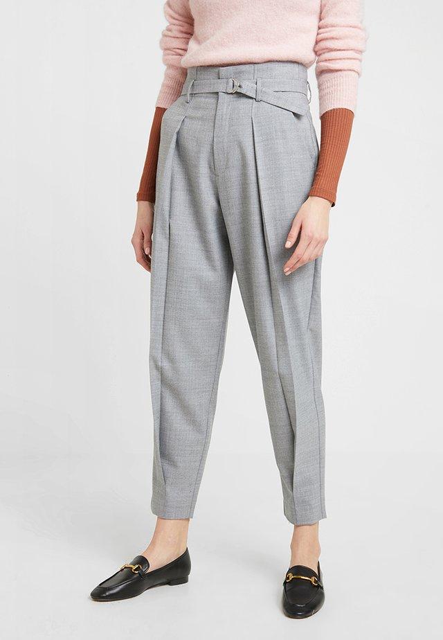 POSSOPHIE PANTS - Stoffhose - mottled light grey