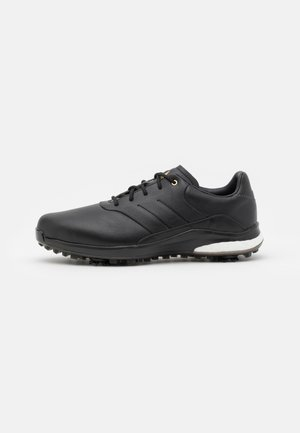 PERFORMANCE CLASSIC - Golf shoes - core black/gold metallic