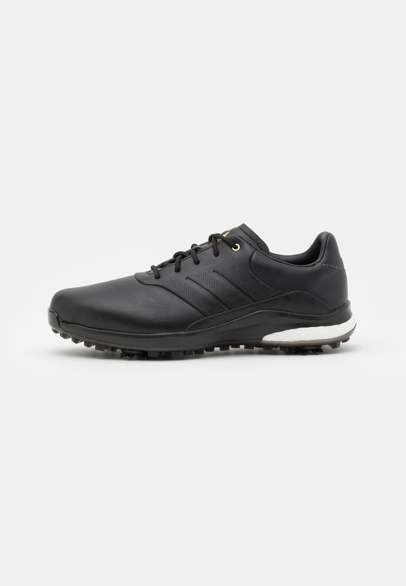 adidas Golf - PERFORMANCE CLASSIC - Golf shoes - core black/gold metallic