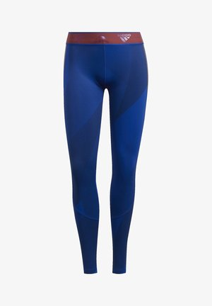 ALPHASKIN GRAPHIC LONG LEGGINGS - Tights - blue
