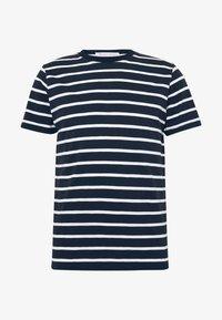 BY GARMENT MAKERS - THE ORGANIC MULTISTRIPED TEE - Print T-shirt - blue - 0