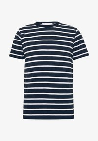 THE ORGANIC MULTISTRIPED TEE - Print T-shirt - blue