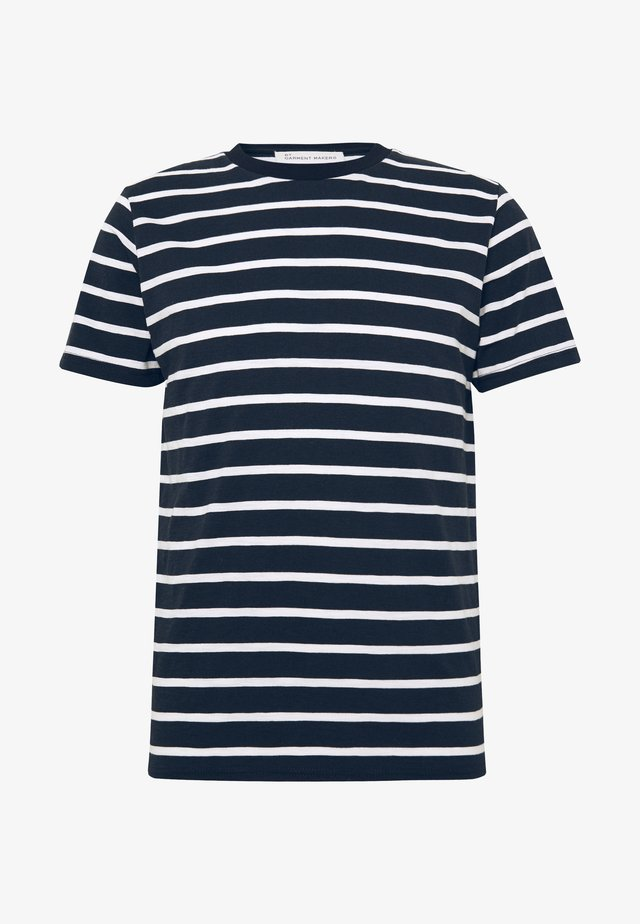 THE ORGANIC MULTISTRIPED TEE - T-shirt med print - blue