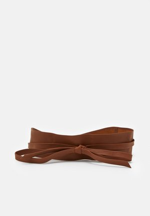 LEATHER - Waist belt - cognac