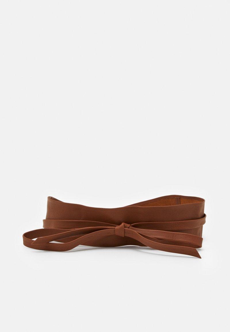 Zign - LEATHER - Waist belt - cognac