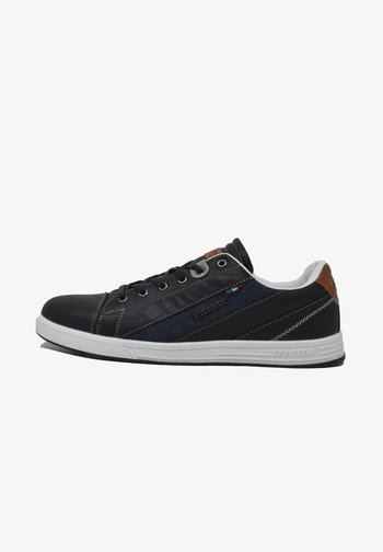 UNDER MIX  - Trainers - deep blue-cuoio