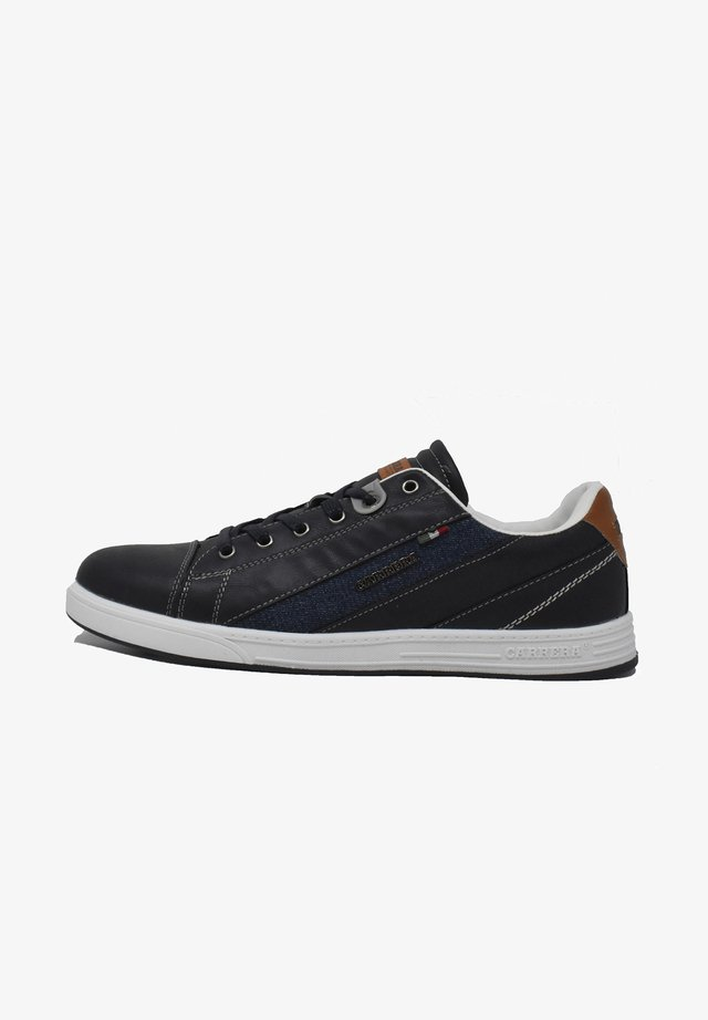 UNDER MIX  - Sneakers basse - deep blue-cuoio