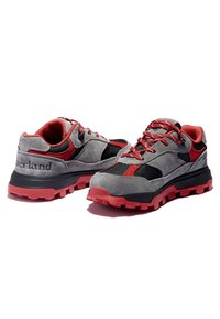 Timberland - TRAIL TREKKER LOW GTX - Sports shoes - grey red - 3