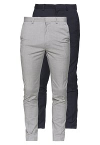 Burton Menswear London - FORMAL ESSENTIAL TROUSER 2 PACK - Trousers - navy - 0
