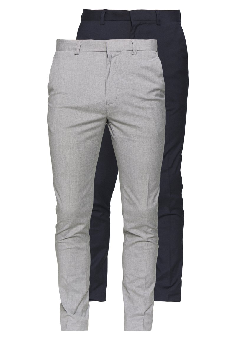Burton Menswear London - FORMAL ESSENTIAL TROUSER 2 PACK - Trousers - navy
