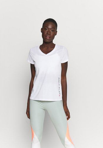 ONPPERFORMANCE V-NECK TEE 2 PACK - T-shirts med print - black/white