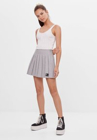 Bershka - Áčková sukně - grey - 1