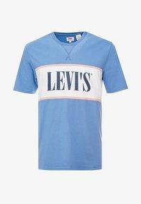 Levi's® - AUTHENTIC COLORBLOCK TEE - Camiseta estampada - riverside/ veiled rose/ marshmallow - 3