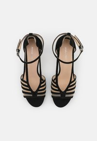 Anna Field - LEATHER - Korolliset sandaalit - black - 5