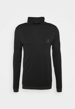 OUTSPEED HOODIE - Stickad tröja - black heather