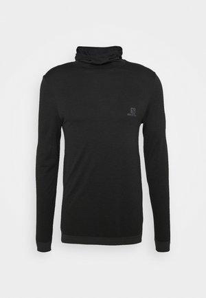 OUTSPEED HOODIE - Jersey de punto - black heather