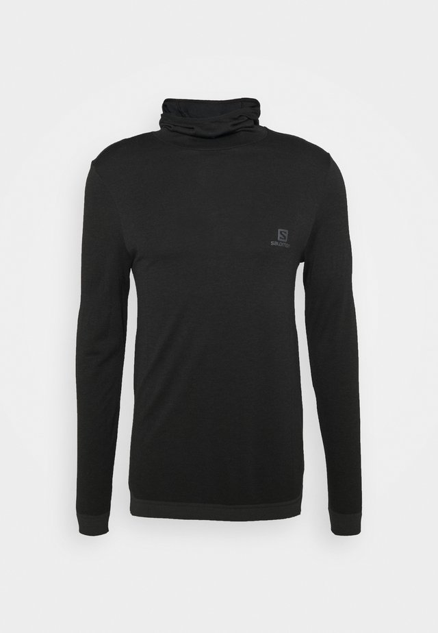OUTSPEED HOODIE - Pullover - black heather