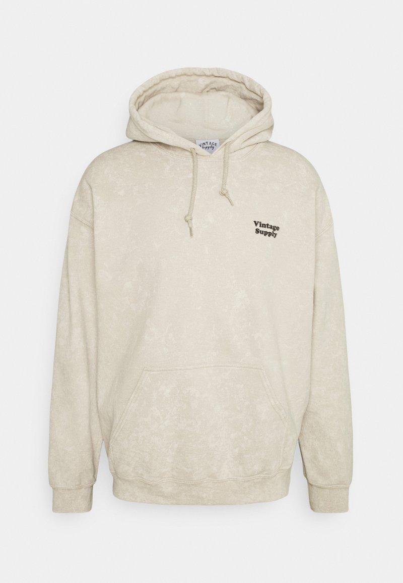 Vintage Supply - CORE OVERDYE HOODIE - Sweatshirt - beige