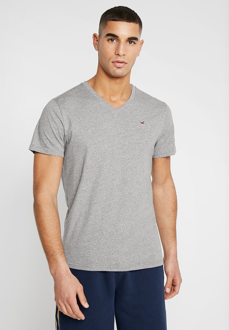 Hollister Co. - ICON  - T-shirt imprimé - grey