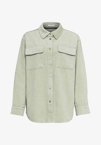 Button-down blouse - misty mint