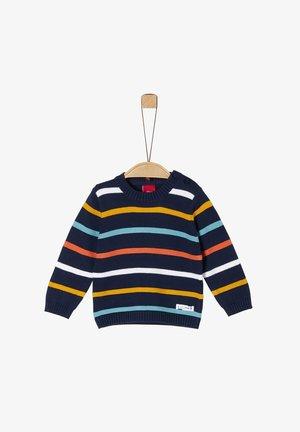 Strickpullover - navy stripes