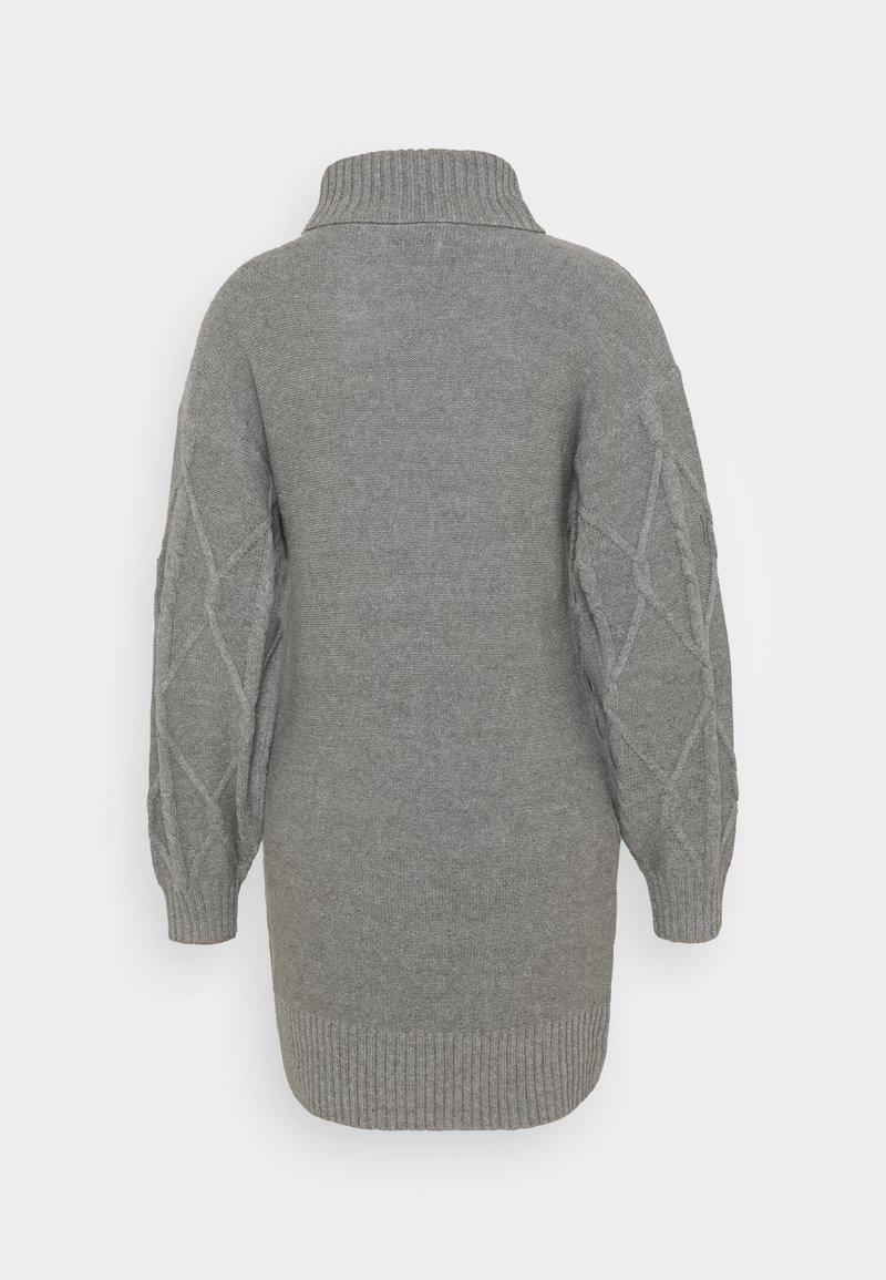 Hollister Co. ECLECTIC DRESS - Strickkleid - medium grey/grau nsxhfZ