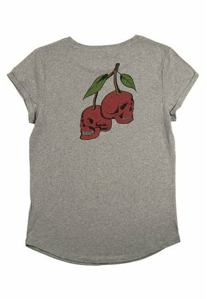 CHERRYBACK - T-shirt print - mottled grey
